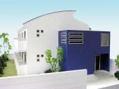 1/100戸建 カラ―外観模型