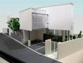 1/50戸建 カラ―外観模型